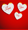 romantic abstract template vector image vector image