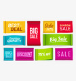 sale clothes labels discount fabric tag best vector image vector image