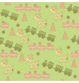 Seamless pattern of toys vector image vector image