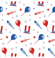 seamless pattern with festive attributes usa vector image