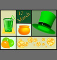 set for st patricks day vector image vector image