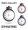set of 3d stop watches vector image vector image