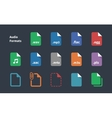 Set of Audio File Extension icons vector image vector image