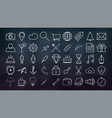 set of outline icons collection of high quality vector image vector image
