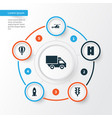 shipment icons set collection of spaceship vector image vector image