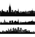 silhouette of city 5 vector image vector image