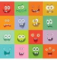Smiling Monsters Set Happy Germ Smile Characters vector image