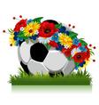 soccer ball Euro 2012 symbol vector image vector image