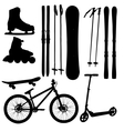 sports Equipment silhouette vector image vector image
