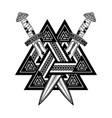 sword triskel 0003 vector image
