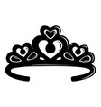 tiara crown icon simple black style vector image