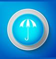 white classic elegant opened umbrella icon vector image vector image