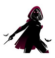 witch sorceress silhouette vector image vector image