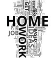 work at home ideas text word cloud concept vector image vector image