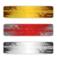 Set of grunge banners metal vector image