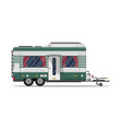 camping trailer caravan isolated icon vector image