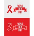 1st December World Aids Day concept with ribbon vector image