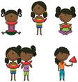 African-American girls vector image vector image