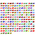 all national world waving flags with names vector image vector image