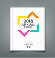 annual report colorful triangle design vector image