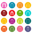 arch set icons many colors set vector image vector image