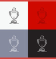award competitive cup edge prize icon over vector image vector image
