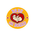 baby on board embryo in the womb vector image vector image