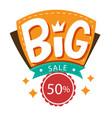 banner big sale 50 circle image vector image vector image