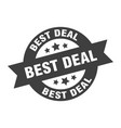 best deal sign round ribbon sticker isolated tag vector image vector image