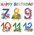 birthday greeting cards design vector image vector image