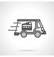 Black line icon for food delivery vector image vector image