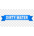 blue ribbon with dirty water title vector image