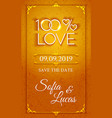 Bright gold wedding design element vector image vector image