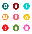 bulb icons set flat style vector image vector image