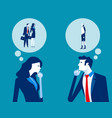 business people thought bubble concept business vector image vector image