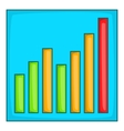 Chart graph icon cartoon style vector image vector image