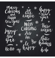 Christmas and New Year card design elements vector image vector image