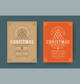 christmas party flyer event vintage typography and vector image