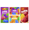 collection jelly shop vertical poster vector image vector image