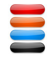 colored oval buttons 3d glass menu icons vector image vector image