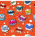 Comics Bubbles Seamless Pattern in Pop Art Style vector image vector image