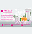 cosmetics product ads poster template cosmetic vector image