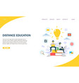 distance education website landing page vector image vector image
