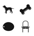dog bone and other web icon in black style vector image vector image