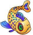 Fish with dots vector image vector image