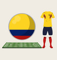 football colombia sport wear vector image vector image