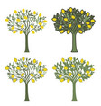 four lemon trees with different graphic styles on vector image vector image