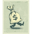 Full sack of money sign vector image vector image