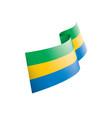 gabon flag on a white vector image vector image