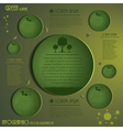 Green Ecology Infographics vector image vector image
